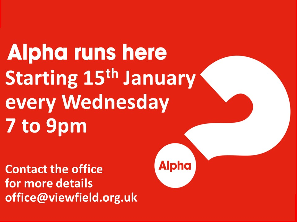 Alpha runs here starting 15th January
